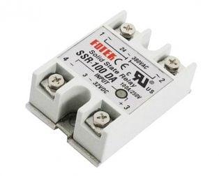 DC To AC SSR-100DA Solid State Relay Module 3-32VDC/24-380VAC 100A (Robu.in)