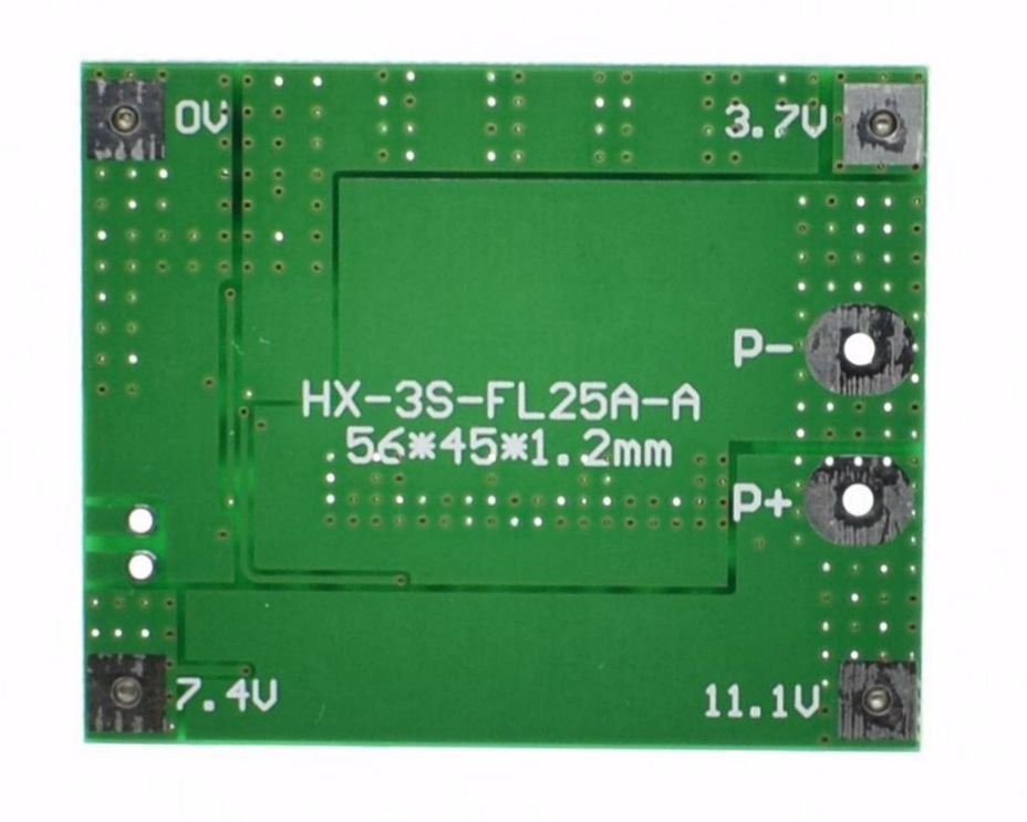 3s 12v 25a 18650 lithium battery protection board robu in indian18650 lithium battery protection board (robu in)