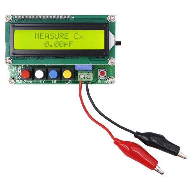 "LC100A 2.5"" LCD Digital High Precision Inductance/Capacitance (L/C) Meter (Robu.in)"