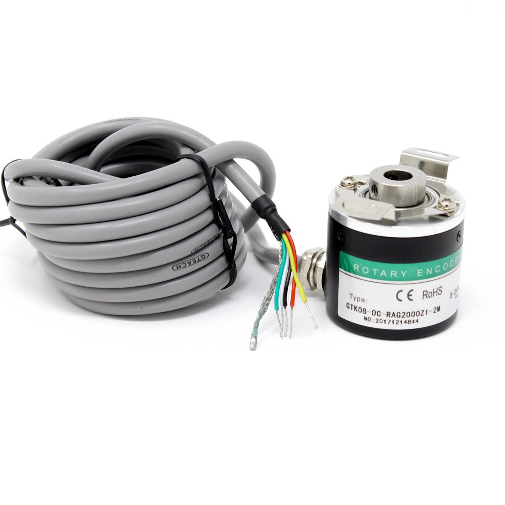 ZKP3808 2000 PPR Hollow Shaft ABZ 3-Phase 5-24V Incremental Photoelectric Rotary Encoder