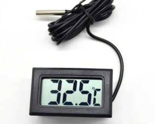 LCD Electronic Fish Tank Water Detector Thermometer - ROBU.IN