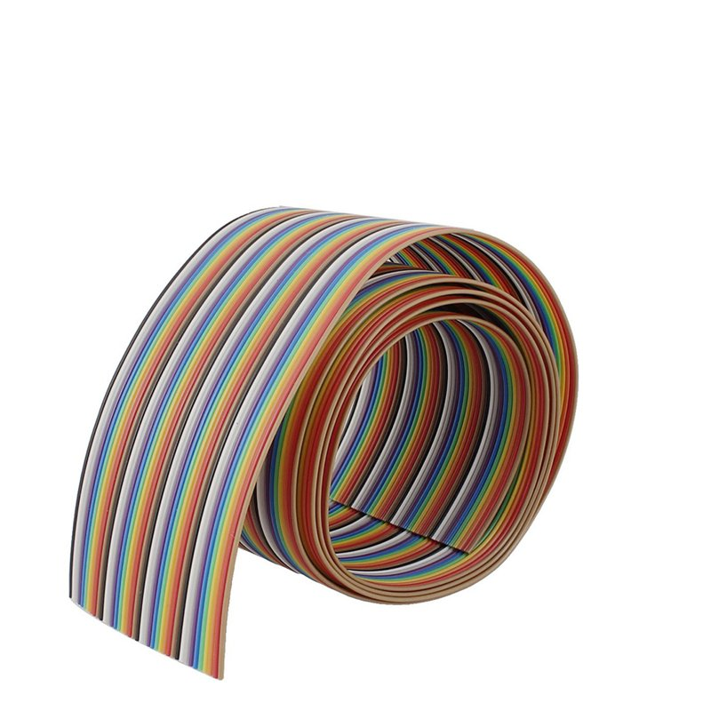 1 27mm 26AWG Pure Copper 40pin Dupont Wire Flexible Rainbow Color Flat  Ribbon Cable - 1 Meter