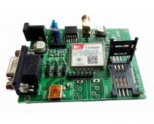 SIM800A Quad Band GSMGPRS Module with RS232 Interface.