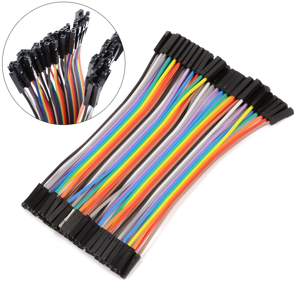 10cm 2.54mm Female to Female Dupont Wire Jumper Cable for Arduino Breadboard 5X