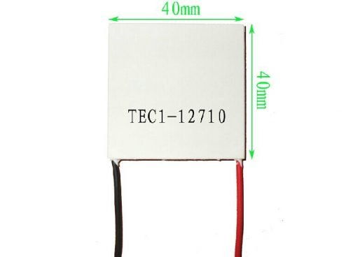 TEC1-12710 40x40mm 10A Heatsink Thermoelectric Cooler Cooling Peltier Plate Module