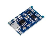 TP4056 1A Lipo Battery Charging Board Micro USB with Current Protection (Robu.in)