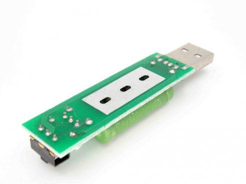USB Mini Discharge Load Resistor 2A/1A with 1A green LED, 2A red LED (RObu.in)