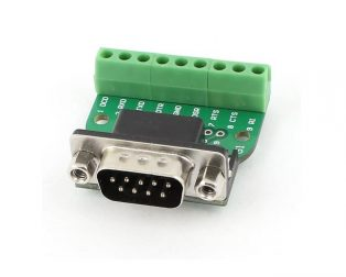DB9 Male screw terminal To RS232 RS485 Conversion Board (Robu.in)