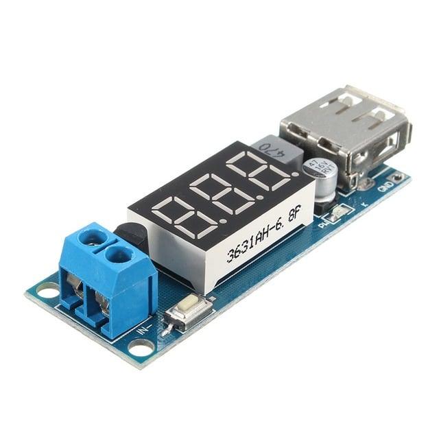 DC-DC 4.5-40V To 5V 2A USB Charger Step down Converter Voltmeter Module (Robu,in)