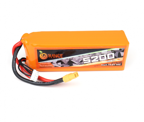 Orange 5200mah 4S 40C (14.8V) Lithium Polymer Battery Pack (Lipo)