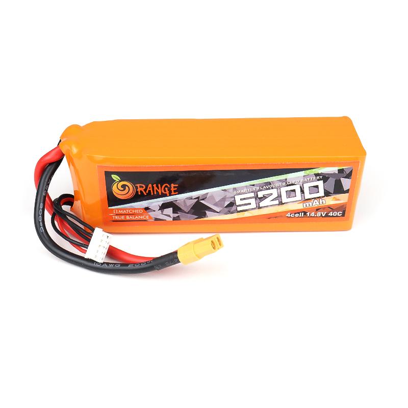 Orange 5200mah 4S 40C (14.8V) Lithium Polymer Battery Pack (Lipo)