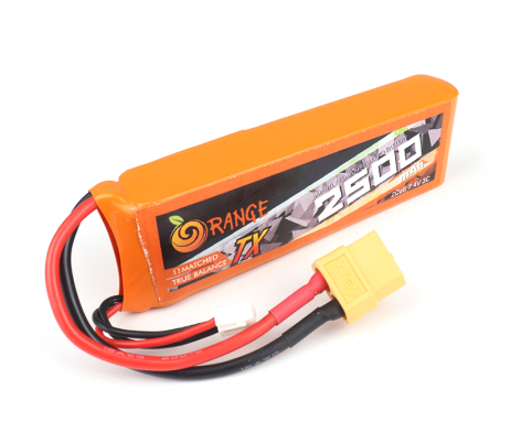 Orange Transmitter (TX) 2500mAh 2S 3C (7.4V) Lithium Polymer Battery Pack (Li-PO)