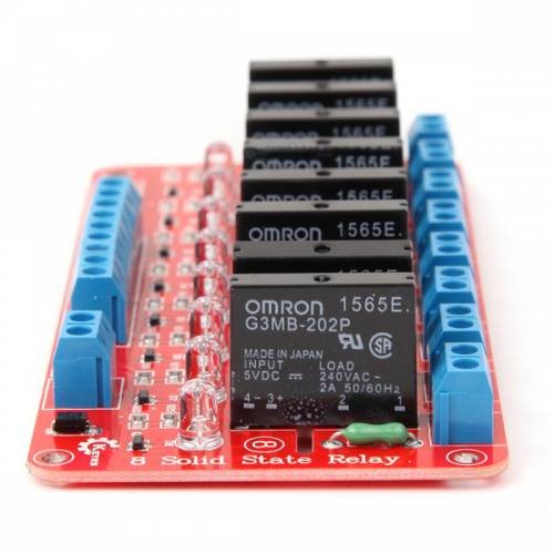 8 Channel 5V Solid State Relay Module Board OMRON for Arduino (Robu.in)