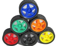 65mm Rubber Tire Wheel For RC Smart Robot Car