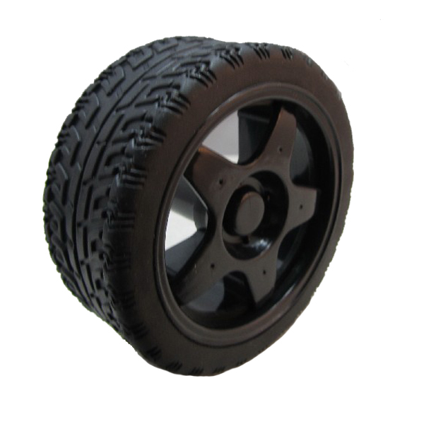 65mm Rubber Tire Wheel For RC Smart Robot Car (Black)