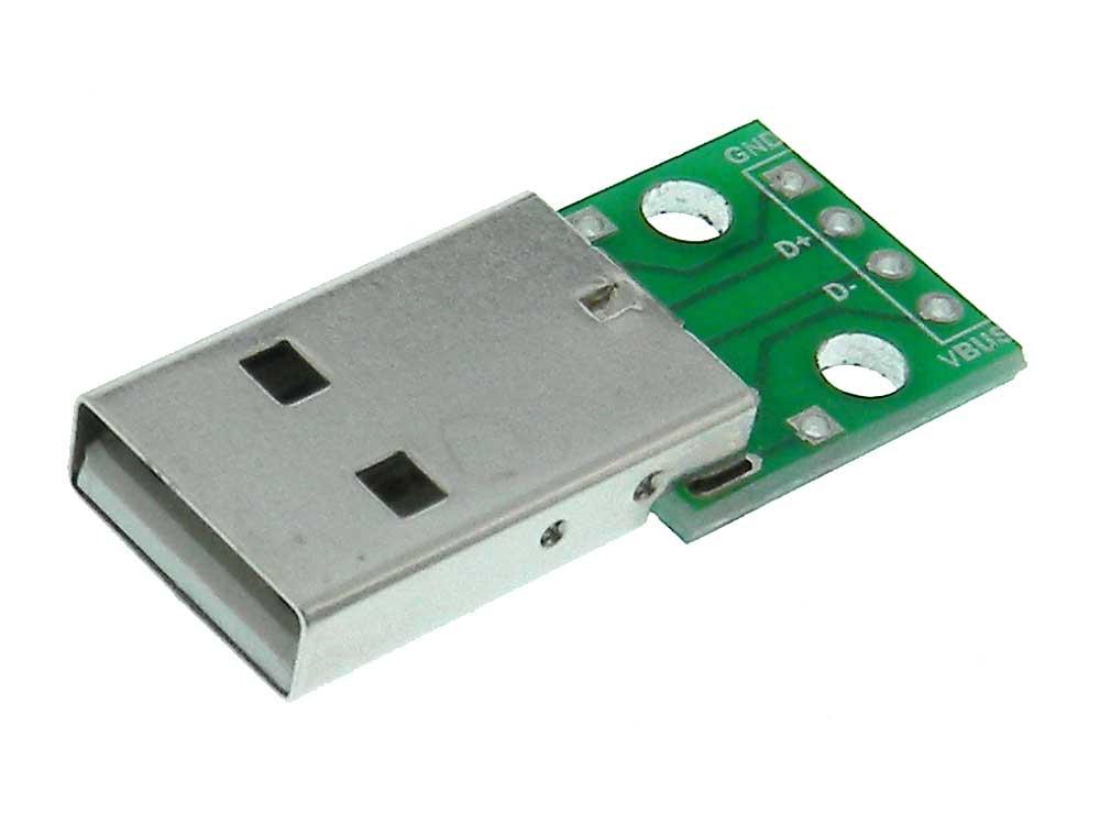 USB Type A Breakout Board - Male
