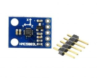 GY-271 HMC5883L 3-axis Electronic Compass Module Magnetic Field Sensor - Original Chip (Robu.in)