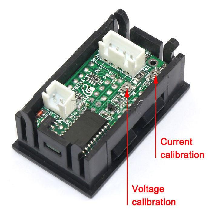 0.28 inch Digital Voltmeter Ammeter DC 100V 50A LED Amp Volt Meter Dc Ammeter Shunt Wiring Diagram on