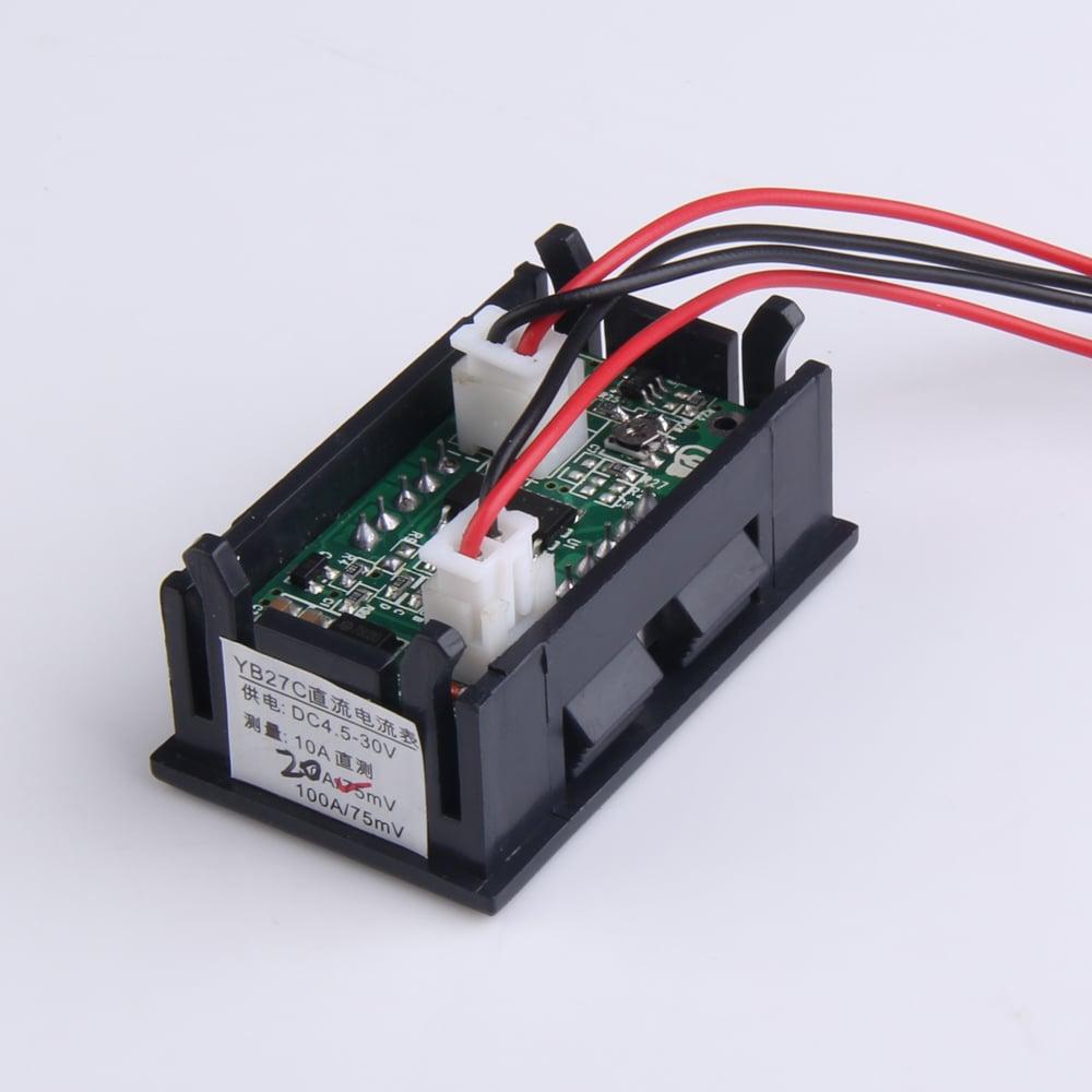 0.28 inch DC 100V 100A LED Digital Ammeter-Voltmeter With Shunt