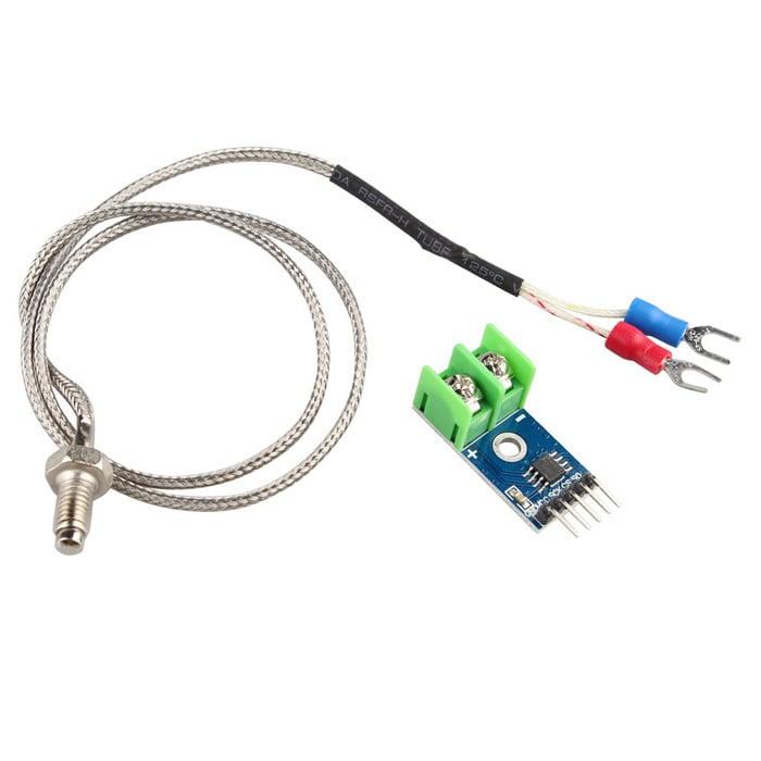 MAX6675 Module + K Type Thermocouple Sensor Measure 1024°C Temperature -  Robu in | Indian Online Store | RC Hobby | Robotics