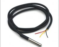 DS18B20 Water Proof Temperature Probe - Black (1m) Original Chip