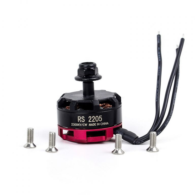RS2205 2300KV Brushless DC Motor for QAV250 QAV300 Racing Drone - Black Cap (CW Motor Rotation)