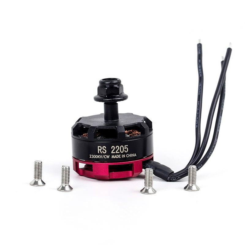 RS2205 2300KV Brushless DC Motor for QAV250 QAV300 Racing Drone - Black Cap (CW Motor Rotation)