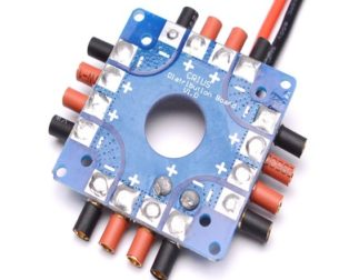 ESC Power Distribution Board Soldered XT60 Plug & 3.5mm Banana Bullet Connectors (Robu.in)