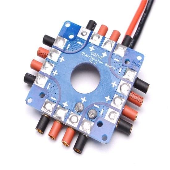 ESC Power Distribution Board Soldered XT60 Plug & 3.5mm Banana Bullet Connectors (Robu.in)