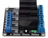 5V 4 Channel SSR Solid State Relay Module 240V 2A Output with Resistive Fuse