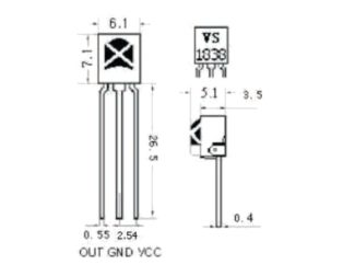 HX1838 VS1838 NEC Infrared IR Wireless Remote Control Sensor Module