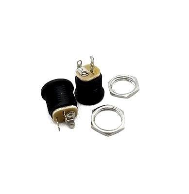 2.1x5.5mm DC Power Jack Socket Panel Mount - 5pcs