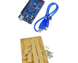 Arduino Mega 2560 Atmega2560-16au + cable for Arduino Mega 2560 + transparent acrylic case for Arduino Mega 2560 (Robu.in)