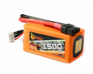 ORANGE Graphene 1500MAH 4S 100C LITHIUM POLYMER BATTERY PACK (LIPO)