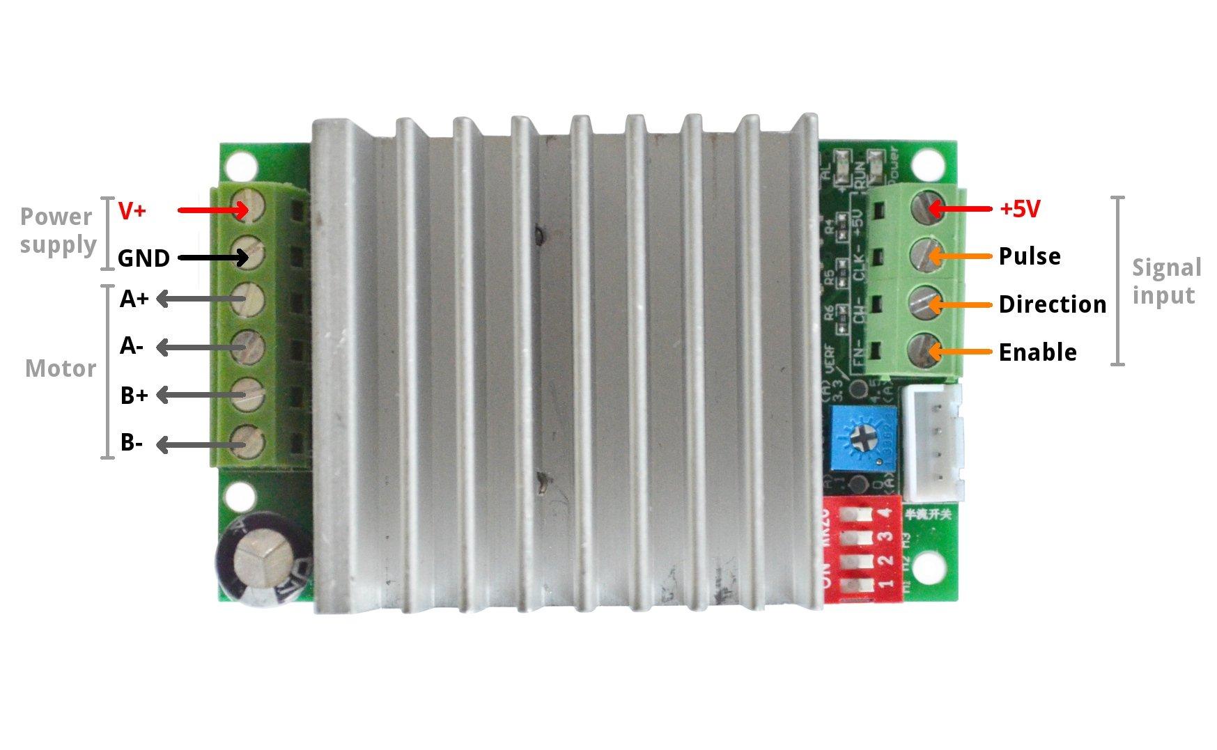 Tb6600 Stepper Motor Driver Controller 4 5a 8