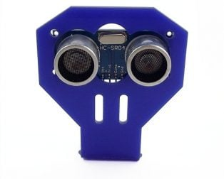 HC-SR04 Ultrasonic range finder with cartoon Ultrasonic Sensor mounting Bracket (Robu.in)