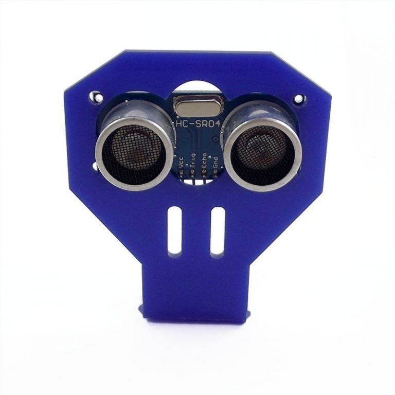 HC-SR04 Ultrasonic range finder with cartoon Ultrasonic Sensor mounting Bracket (Robu.in)