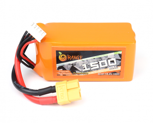 ORANGE Graphene 1500 mAh 4S 100C LITHIUM POLYMER BATTERY PACK (LIPO)