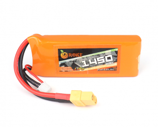 ORANGE Li-Fe 1450mAh 2S 30C/60C LITHIUM IRON PHOSPHATE BATTERY PACK (LiFePO4)