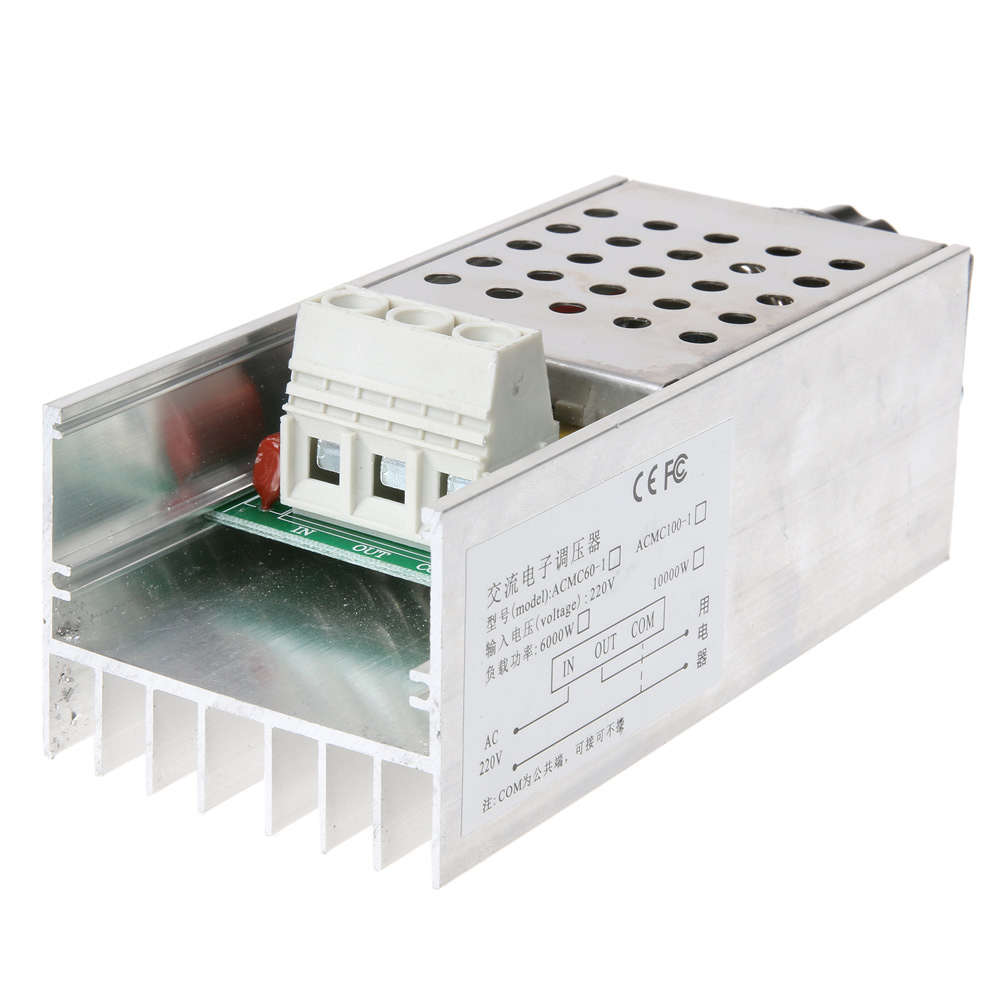 10000W High Power SCR BTA100-800B Electronic Voltage Regulator Module For  Speed Control, Dimming & Thermostat