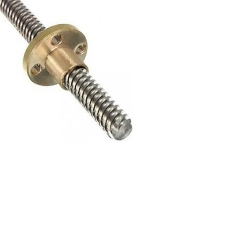 200mm Trapezoidal 4 Start Lead Screw 8mm Thread 2mm Pitch Lead Screw with Copper Nut