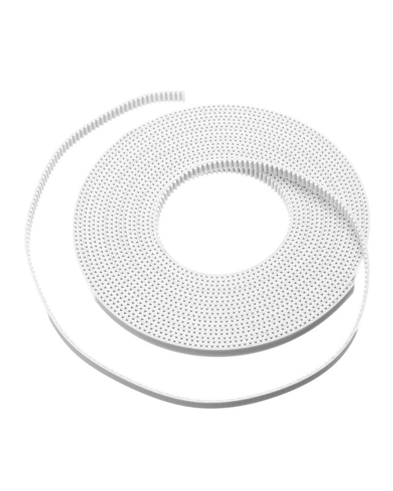 3D Printer Timing Belt 10M White Open Timing Belt 6mm Width Synchronous Open Loop Belt Timing Pulley Tools Rubber Fiberglass Reinforced 3D Printer