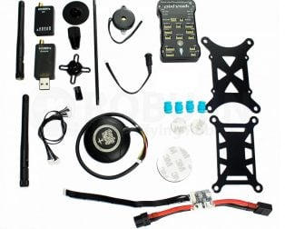 PIXHAWK PX4 2.4.7 Flight Controller with SHOCK ABSORBER + UBLOX NEO-M8N GPS + GPS FOLDING ANTENNA BASE SET + Pixhawk Power Module + 433MHZ Telemetry + PPM Encoder combo Kit