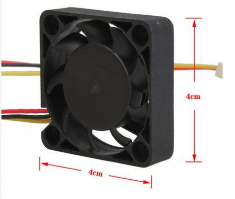 Small 5V 0.3A Turbo Air Intake Fan (Size 40x40x20mm)