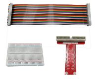 T Type GPIO Breakout board with 40 pin Cable and 400 holes Breadboard for Raspberry Pi 3 Model B/B+