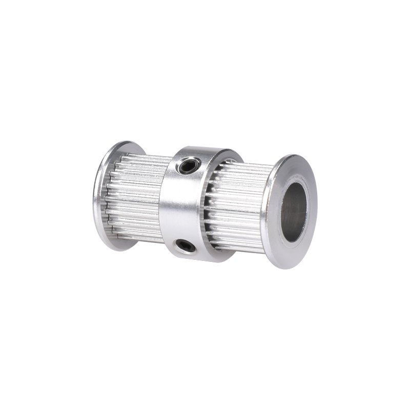 Aluminum GT2 Timing Double Head Pulley For 6mm Belt 20 Tooth 5mm Bore