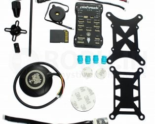 PIXHAWK PX4 2.4.8 Flight Controller with SHOCK ABSORBER + UBLOX NEO-M8N GPS + GPS FOLDING ANTENNA BASE SET + Pixhawk Power Module combo Kit