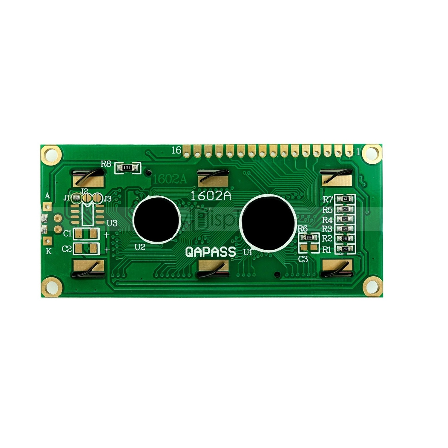 LCD1602 Parallel LCD Display Yellow Backlight-ROBU.IN