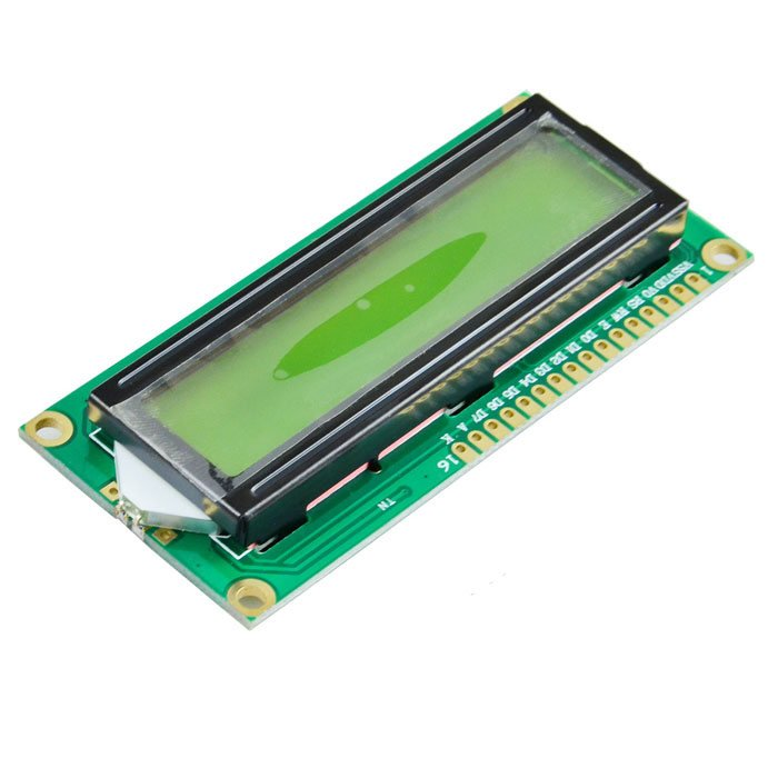 LCD1602 Parallel LCD Display Yellow Backlight - ROBU.IN
