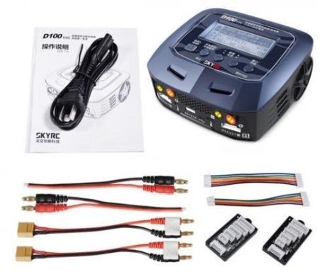 SKYRC D100 V2 2x100W 10A AC/DC Dual Balance Charger/Discharger/Power Supply